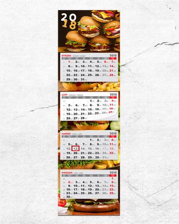 Kalendarz czterodzielny folia błysk 100 szt. (1)